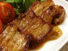 豚バラ肉のバルサミコソテーの画像