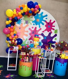 10th Birthday Parties, Art Birthday, Birthday Party Themes, Art Party Decorations, Candy Party, Ballon, Paint Party, Craft Party, Alice