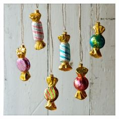 Gold Candy Ornaments