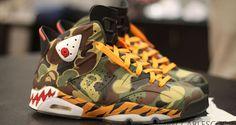 """Air Jordan 6 """"BAPE"""" Custom   Nice Kicks"""