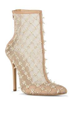 Pearlette Bootie by Oscar de la Renta $1,395 Spring Summer 2014 #Shoes #Booties #Boots