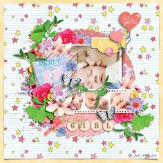 9 month forecast: a 'shower' followed by a sunny baby. Scrapbook Blog, Digital Scrapbooking Layouts, Girl Shower, Baby Shower, New Baby Products, Creative, Scrapbooks, Templates, Store