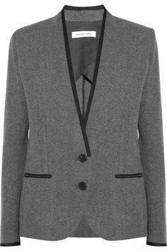 Étoile Isabel Marant|Pepy contrast-trim flannel blazer|