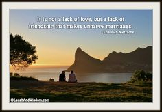 It is not a lack of love, but a lack of friendship that makes unhappy marriages Unhappy Marriage, Marriage Couple, Before Marriage, Saving Your Marriage, Save My Marriage, Marriage Relationship, Relationships, Premarital Counseling, Marriage Advice Quotes