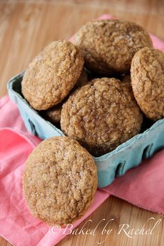 """Pumpkin Spice Cookies - Baked by Rachel. I'll test a few """"spice"""" cookie recipes so we have something """"spicy"""" to go with our sugar & spice theme."""