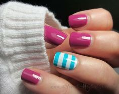 juega con colores y diseños en tus uñas #Uñas #Nails #Mani #Style #Manicure