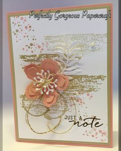 Hello lovely Stampers In this video I will show you step by step how to create this absolutely gorgeous delicate card using Blushing Bride and Sahara sand. I...