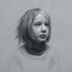 "David Jamieson // ""Static"" - Portrait of a Child Fine Art Drawing, Life Drawing, Figure Drawing, Drawing Sketches, Drawing Ideas, Graphite Art, Graphite Drawings, Pencil Drawings, Portrait Sketches"