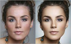 Beauty skin retouch by Matteo Salvador, via Behance