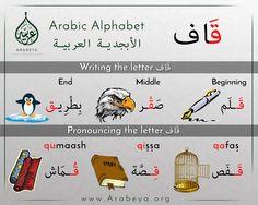 The letter qaaf حرف القاف