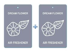 Dream Flower Air Freshener Paper Bar Hanging (Pack of 2)/ Car-Home-Office Natural Blended Deodorizer