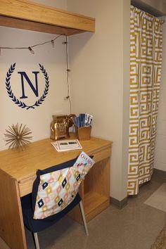 Custom closet panel for dorm Custom dorm chair cover with pocket Sorority and Dorm Room Bedding and Decor