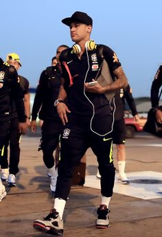 Brazil landed in Lima on Sunday in high spirits ahead of their World Cup qualifying showdown with Peru.