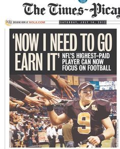 Front page of the Times-Picayune on July 14, 2012