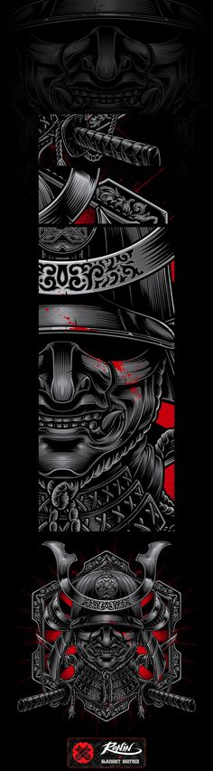 Blackout Samurai on Behance Japanese Tattoo Samurai, Japanese Warrior, Japanese Tattoo Art, Japanese Art, Mascara Samurai Tattoo, Samurai Mask Tattoo, Ronin Samurai, Samurai Warrior, Mangas Tattoo