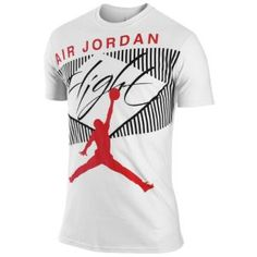 Jordan Classic Flight T-Shirt - Men's - Basketball - Clothing - Black/Challenge Red