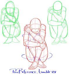 Anatomy Drawing Tutorial by POSEmuse - Drawing Lessons, Drawing Techniques, Drawing Tutorials, Art Tutorials, Figure Sketching, Figure Drawing Reference, Art Reference Poses, Drawing Base, Body Drawing