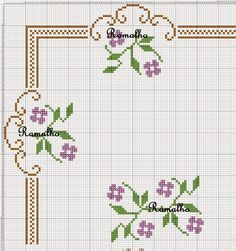 This Pin was discovered by Yel Mini Cross Stitch, Cross Stitch Needles, Cross Stitch Heart, Cross Stitch Borders, Cross Stitch Flowers, Cross Stitch Designs, Cross Stitching, Cross Stitch Embroidery, Embroidery Patterns