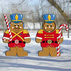 GINGERBREAD SOLDIERS ~ 2 pc Christmas