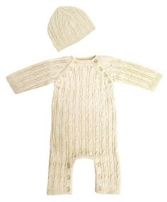 Tadpoles Cable Knit Romper and Hat Set, 0-3 Month, Cream Tadpoles http://www.amazon.com/dp/B000BVL5E8/ref=cm_sw_r_pi_dp_g9Egub1JG0ZRY