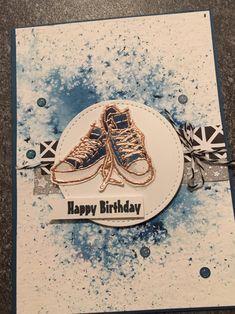 Brusho powder and Epic Celebration stamp set