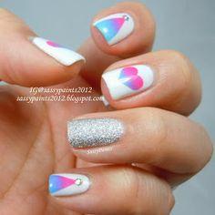 Sassy Paints: Taped gradient nail art