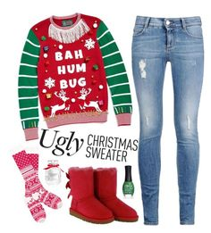 """Ugly Christmas Sweater"" by kelsey-fenner ❤ liked on Polyvore featuring Ugly Christmas Sweater, STELLA McCARTNEY, UGG Australia, ORLY, Victoria's Secret, Christmas, uglychristmassweater and christmassweater"