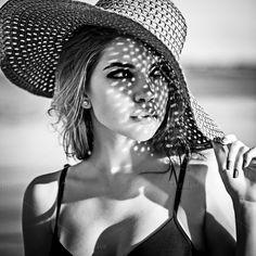 Flirting girl in the hat by Elena Vagengeim on @creativemarket