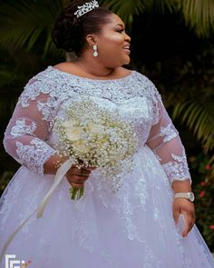 Plus Size Wedding Dresses - Made to Order Bridal Designs Plus Size Wedding Dresses With Sleeves, Plus Size Wedding Gowns, Full Figure Wedding Dress, Fat Bride, Plus Size Brides, Curvy Bride, Gorgeous Wedding Dress, Dream Wedding, Bridal Gowns