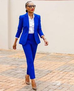 """Stepping confidently in """"(life)style! Blue Suit Outfit, Blue Suit Brown Shoes, Bright Blue Suit, Blue Suits, Navy Blue, Dusty Blue, Dark Navy, Black Shoes, Suit Fashion"""