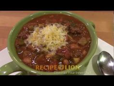 Easy Chuckwagon Chili -  A fully loaded chili recipe that is super easy to make.