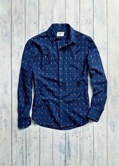 H.E. BY MANGO - Slim-fit embroidered motifs shirt #FW14 #MENSWEAR