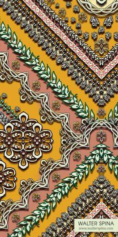 "Estampa geométrica Matisse (variante de cor). Desenvolvida através de pintura digital, tendo como referência a obra ""Le Luth"" de Henri Matisse."