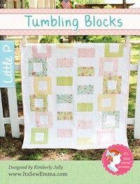 Tumbling Blocks Quilt Pattern<BR>It's Sew Emma Little P