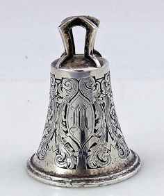 Kerr acid etched sterling table bell