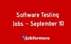 Software testing jobs 13th december software testing.