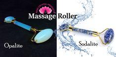 #massageroller #opalite #sodalite #massageroller #facialroller Feng Shui Items, Massage Roller, Facial Massage, Online Shopping Sites, Green Aventurine, Stones And Crystals, Reiki, Wands, Rose Quartz