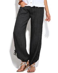 Jofemuho Womens Striped Side Elastic Waist Sweatpant Casual Pants Trousers