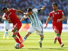 Mehrdad Pooladi & Ehsan Haji Safi ,Lionel Messi: Argentina v Iran: Group F - 2014 FIFA World Cup Brazil