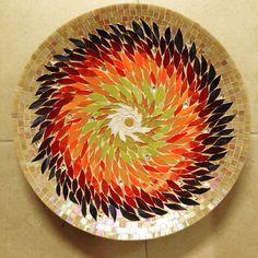 Bamboo#tabak#plate#glas#cam#mosaic#mozaik#handmadee#elyapımı#