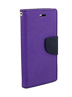 Casecraft Oppo neo 5 Flip Cover Case Wallet Style Cover (Purple) | All Mobile Accessories, Cases & Covers