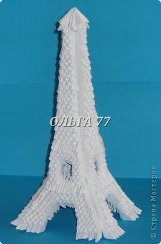 Мастер-класс Оригами модульное: ЭЙФЕЛЕВА башня МК Бумага Отдых. Фото 56