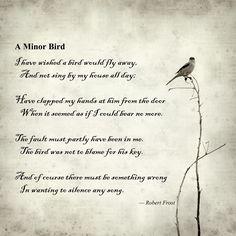 A Minor Bird; Robert Frost