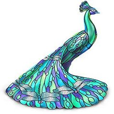"""The """"Dragonfly"""" 5"""" Tall Peacock Figurine  $49.98 www.allthingspeacock.com - Peacock Figurines (2)"""