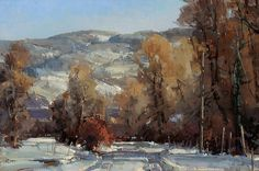 Sun On Morning Snow - Oil by Kathryn Stats