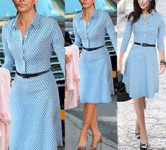 Vintage Polka Dot Turn-down Collar 3/4 Length Sleeves Bodycon Dress With Waistband