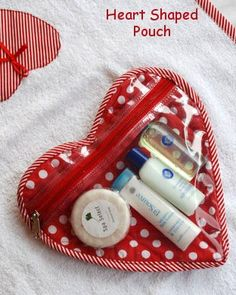 Heart Shaped Pouch - Homemade Gift Idea for Valentine's Day