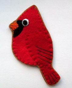 festive cardinal for Xmas