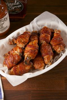 http://www.delish.com/cooking/recipe-ideas/recipes/a57632/maple-bacon-wings-recipe/