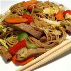 Sweet and Spicy Pork and Napa Cabbage Stir-Fry with Spicy Noodles Recipe - Allrecipes.com